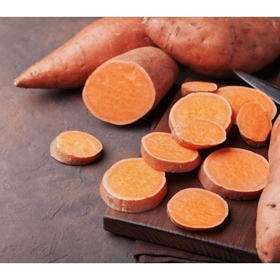 High grade yams selected and prepared to add in dehydrated dinners.